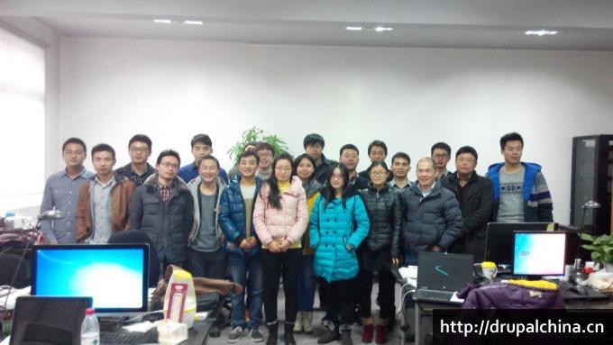 2015年1月24日Drupal上海聚会合影